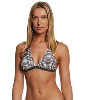 Lole Black Stripe Lanai Halter Bikini Top