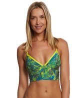 Lole Spring Tropical Baia Fixed Triangle Crossback Crop Bikini Top