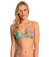 Luli Fama Swimwear Siren Dance Crystallized Triangle Bikini Top