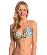 Luli Fama Swimwear Siren Dance Crystallized Push Up Bikini Top