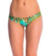 Luli Fama Swimwear Moon Princess Ruched Bikini Bottom
