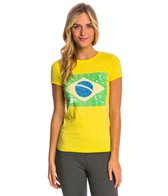 Speedo Women's Rio Flag Tee Shirt