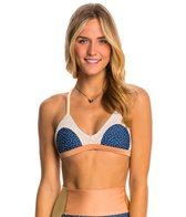 Seea Navy Dot Leucadia Bikini Top