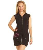 SUPmerge Women's Front Zipper Swim Dress