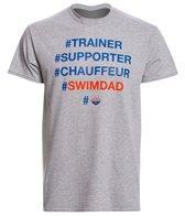 USA Swimming Men's #Swim Dad Crew Neck T-Shirt