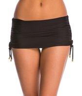 Helen Jon Solid Skirted Hipster Bikini Bottom