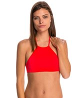 Billabong Swimwear Sol Searcher High Neck Crop Bikini Top