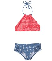 Billabong Girls' Bandana Rama Reversible High Neck Bikini Set (4-14)