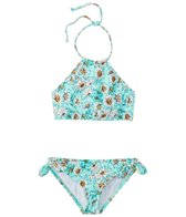 Billabong Girls' Fancy Floral High Neck Bikini Set (4-14)