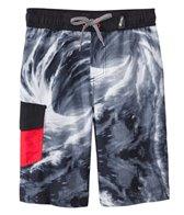 Big Chill Boys' Black Whirlpool Swim Trunks (4-7)