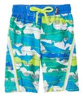 Big Chill Boys' Shark Stripe Swim Trunks (4-7)