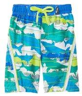 Big Chill Boys' Shark Stripe Swim Trunks (8-18)