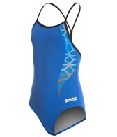 Arena Girls' Carbonite II Jr. One Piece Light Drop Back One Piece Swimsuit