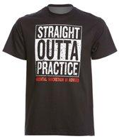 AMBRO Manufacturing Men's Short Sleeve Straight Outta Practice Swim Tee Shirt