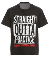 AMBRO Manufacturing Youth Unisex Short Sleeve Straight Outta Practice Swim Tee Shirt