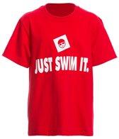 AMBRO Manufacturing Youth Unisex Just Swim It Short Sleeve Tee Shirt