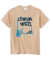 AMBRO Manufacturing Men's Swim Wet Short Sleeve Tee Shirt