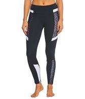 Betsey Johnson Leopard Mesh Colorblock Yoga Leggings