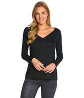 Bella + Canvas Flowy Long Sleeve V-Neck Tee