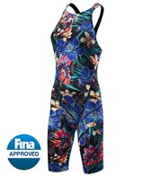 TYR Women's Limited Edition Lava Avictor Open Back Kneeskin Tech Suit Swimsuit