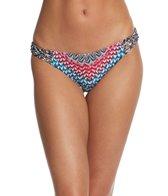 Jessica Simpson Swimwear Dakota Placement Reversible Strap Triangle Bikini Top