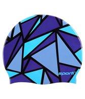 Sporti Stained Glass Silicone Swim Cap