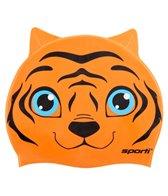 Sporti Cartoon Tiger Silicone Swim Cap Jr.