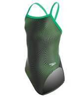 Speedo PowerFLEX Eco Girls' Hydro Amp Flyback One Piece Swimsuit