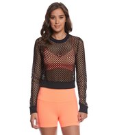 Alo Yoga Summer-Time Yoga Long Sleeve Crop Top
