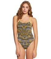 Nike Women's Vibe Cut-Out Tank One Piece Swimsuit