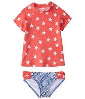 Billabong Girl's Starlight Short Sleeve Rashguard Set (4-14)