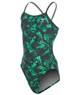 TYR Girls' Emulsion Cutoutfit One Piece Swimsuit