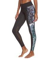 Betsey Johnson Performance Print Blocked Ankle Yoga Leggings