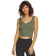 Free People Solid Rib Brami Yoga Crop Top