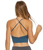 Hard Tail Mesh Inset X Back Yoga Sports Bra