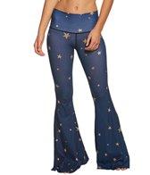 Teeki Blue Great Star Nation Bell Bottom Yoga Pants