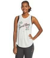 Spiritual Gangster Good Vibes Floral Burnout Studio Tank
