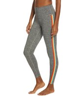 Spiritual Gangster Rainbow Stripe Midi High Rise Leggings