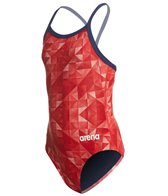 Arena Girls' Origami MaxLife Sporty Racer Back One Piece Swimsuit