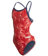 Arena Girls' Mast Origami MaxLife Open Racer Back One Piece Swimsuit