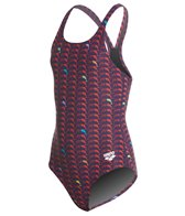Arena Girls' Dolphin MaxLife Athletic Thick Strap Racer Back One Piece Swimsuit