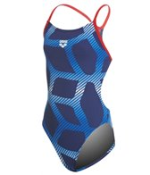 Arena Girls' Spider MaxLife Booster Racer Back One Piece Swimsuit