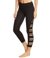 c7573c87921f3f Betsey Johnson Performance High Waisted Lace Up 7/8 Yoga Leggings at ...