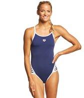 Arena Women's Team Stripe MaxLife SuperFly Back One Piece Swimsuit
