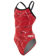 Arena Girls' Water Challenge MaxLife Thin Strap Open Back One Piece Swimsuit