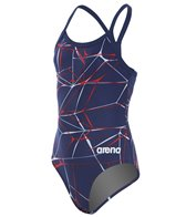 Arena Girls' Water MaxLife Sporty Thin Strap Racer Back One Piece Swimsuit