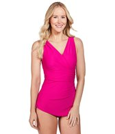 Sporti Isabella Tummy Control Wrap One Piece Swimsuit