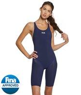 TYR Women's Tracer B-Series Solid Open Back Kneeskin Tech Suit Swimsuit