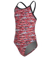 Sporti Shark Thin Strap One Piece Swimsuit Youth (22-28)