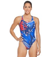 Speedo Women's Shattered Palm Super Pro One Piece Swimsuit